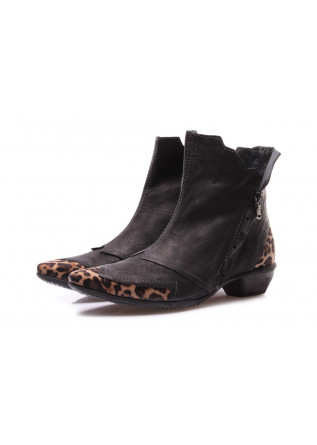 WOMEN'S SHOES BOOTS BLACK CLOCHARME / CHARME ROUTARD