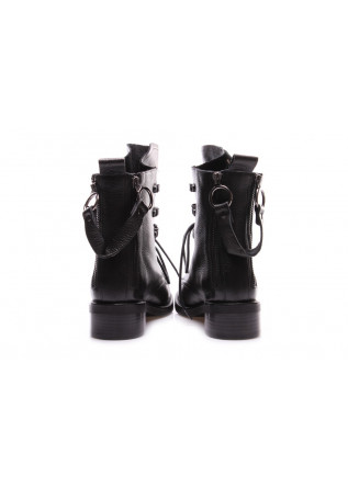 WOMEN'S SHOES ANKLE BOOTS LEATHER BLACK JUICE