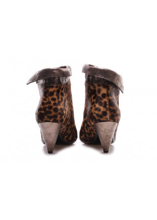 WOMEN'S SHOES HEEL BOOTS ANIMALIER BROWN JUICE