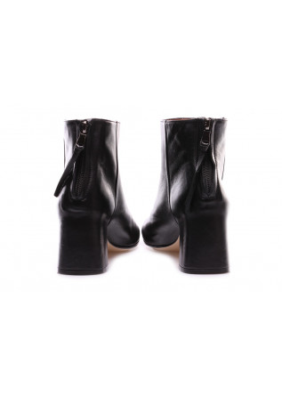 WOMEN'S SHOES BOOTS NAPPA LEATHER HEELS BLACK MARA BINI