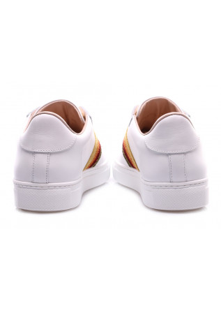 WOMEN'S SHOES SNEAKERS LEATHER GOLD WHITE STOKTON