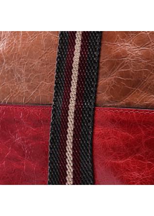 WOMEN'S BAGS BAG SHOPPING RED BROWN GIANNI CHIARINI
