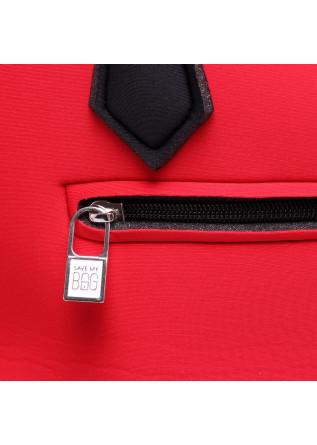 WOMEN'S BAGS BAG SHORT HANDLES MIDI LYCRA RED SAVE MY BAG