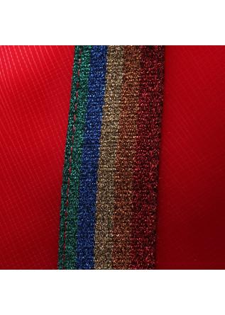 WOMEN'S BAGS HANDBAG RUBBER LATEX RAINBOW RED GUM CHIARINI