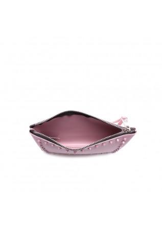 WOMEN'S BAGS WRISTLET TON SUR TON STUDS PINK GUM CHIARINI