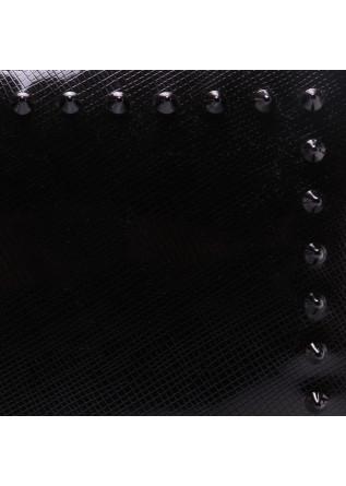 WOMEN'S BAGS WRISTLET TON SUR TON STUDS PAINT BLACK GUM CHIARINI