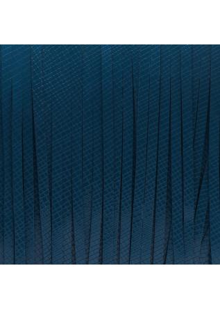 WOMEN'S BAGS WRISTLET GLOSSY PEACOCK BLUE GUM CHIARINI