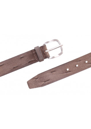 MEN'S ACCESSORIES BELT ROUNDED BUCKLE HANDMADE CLOUDY GREY ORCIANI