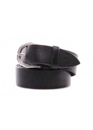 MEN'S ACCESSORIES BELT ROUNDED BUCKLE HANDMADE FROG BLACK ORCIANI