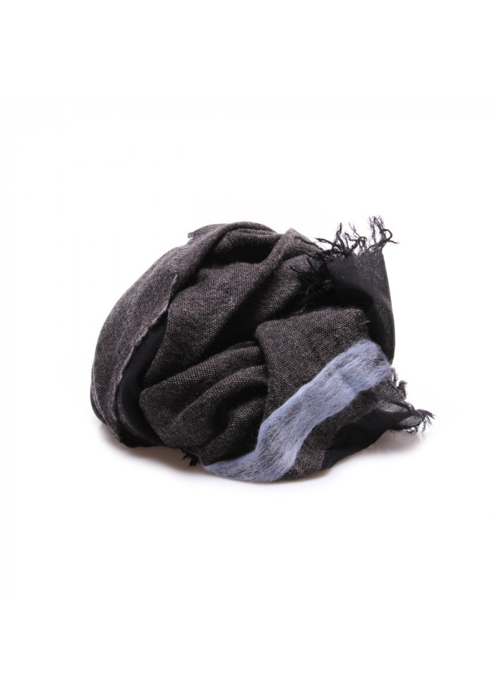 WOMEN S ACCESSORIES SCARF MODAL MOHAIR LIGHT BLUE GREY BLACK JUCCA 418b6f9412e4
