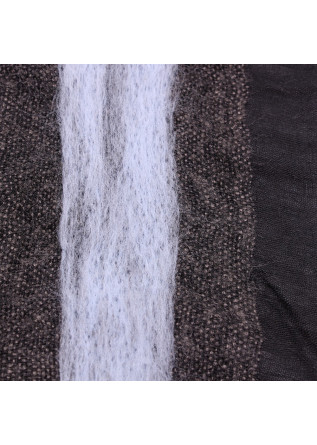 WOMEN'S ACCESSORIES SCARF MODAL MOHAIR LIGHT BLUE GREY BLACK JUCCA