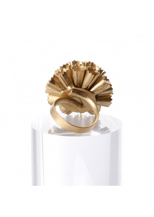WOMEN'S ACCESSORIES RING LARGE FLOWER GOLDEN GLAZED UNIQUE
