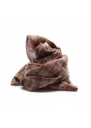 MEN'S ACCESSORIES SCARF VIRGIN WOOL BROWN DANDY STREET