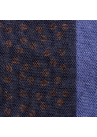 MEN'S ACESSORIES SCARF VIRGIN WOOL BLUE BROWN LIGHT BLUE DANDY STREET