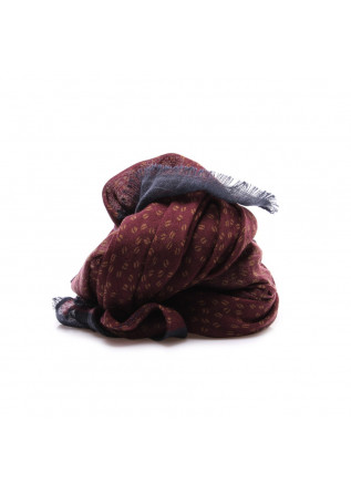 MEN'S ACCESSORIES SCARF VIRGIN WOOL BORDEAUX BLUE YELLOW DANDY STREET