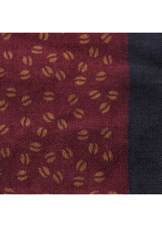 MEN'S ACESSORIES SCARF VIRGIN WOOL BORDEAUX BLUE YELLOW DANDY STREET