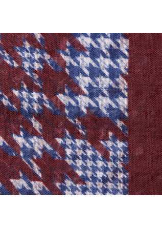 MEN'S ACESSORIES SCARF VIRGIN WOOL BORDEAUX BLUE WHITE DANDY STREET