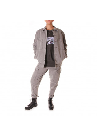 UNISEX CLOTHING JACKET ORGANIC COTTON GREY WRAD