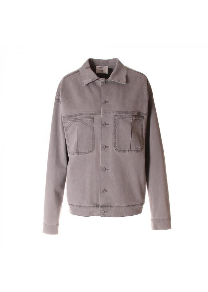 UNISEX CLOTHING JACKET DENIM PURE ORGANIC COTTON GREY WRAD
