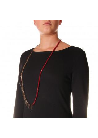 WOMEN'S ACCESSORIES NECKLACE RUBY RED STONES BORDEAUX UNIQUE