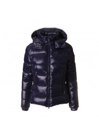 DAMENKLEIDUNG JACKE ABNEHMBARE KAPUZE BLAU SAVE THE DUCK
