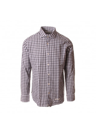 MEN'S CLOTHING SHIRT CHEQUERED GREY WHITE TINTORIA MATTEI 954