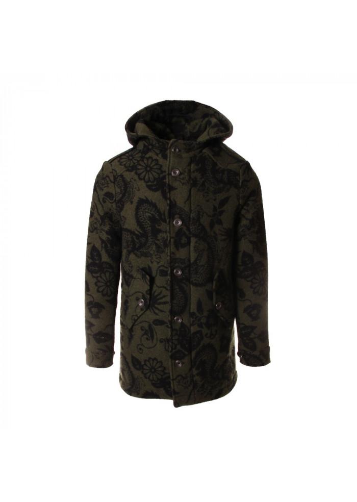 MEN'S CLOTHING JACKET MIXED WOOL PRINTED GREEN MASON'S