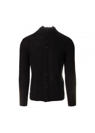 MEN'S CLOTHING KNITWEAR CARDIGAN HIGH COLLAR BLACK OFFICINA36