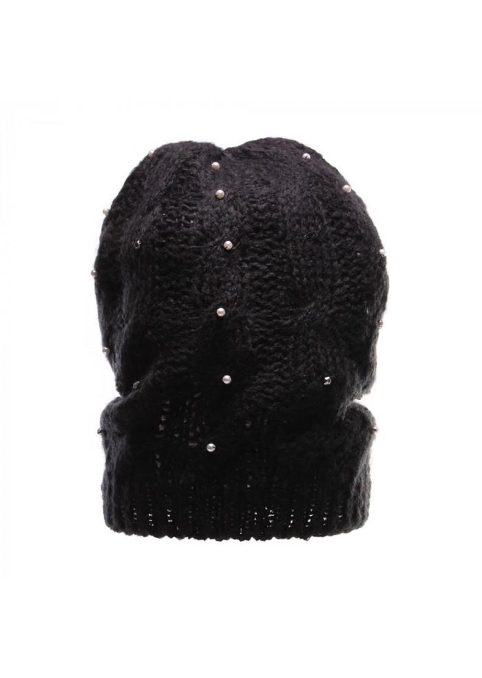 66965118563 WOMEN'S ACCESSORIES HAT BEADS AND STUDS BLACK KOCCA