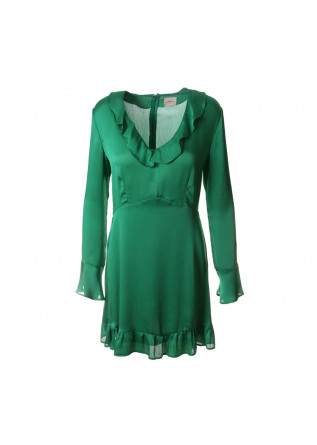WOMEN'S CLOTHING DRESS ROUCHES VIVID GREEN MERCI