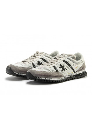 MEN'S SHOES SNEAKERS NYLON LEATHER SILVER / GRAY PREMIATA