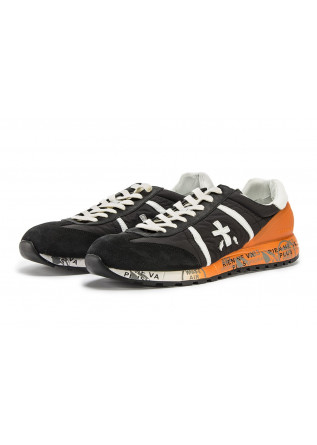 MEN'S SHOES SNEAKERS BLACK / ORANGE / WHITE PREMIATA