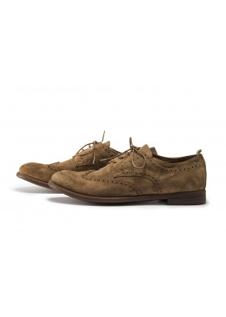 MEN'S SHOES FLAT SHOES DERBY BEIGE ROPE BROWN OFFICINE CREATIVE