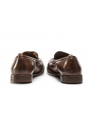 MEN'S SHOES FLAT SHOES MOCASSIN TOBACCO BROWN OFFICINE CREATIVE