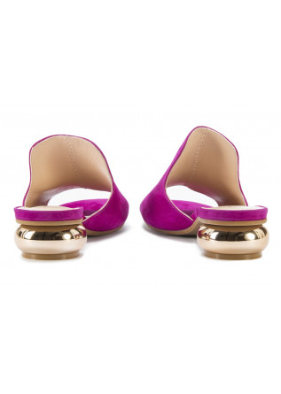 WOMEN'S SHOES SABOT HEEL SANDALS FUCHSIA TIFFI