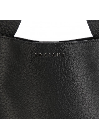 WOMEN'S BAGS  HANDBAG LEATHER BLACK ORCIANI