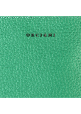 WOMEN'S BAGS SHOULDER BAG HAMMERED LEATHER EMERALD GREEN ORCIANI
