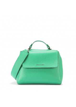 WOMEN S BAGS HANDBAG LEATHER EMERALD GREEN ORCIANI ... 9133a6dbcd70a