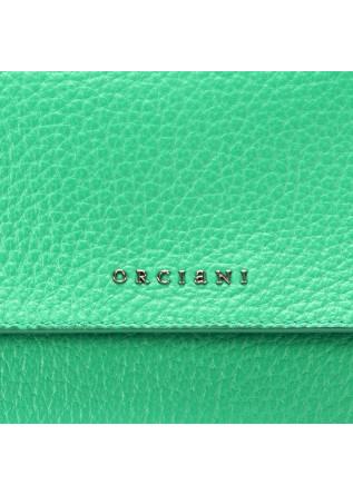 WOMEN'S BAGS HANDBAG LEATHER EMERALD GREEN ORCIANI