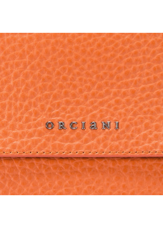 WOMEN'S BAGS HANDBAG LEATHER ORANGE ORCIANI