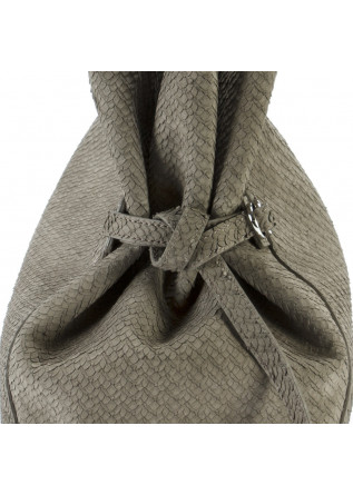 WOMEN'S BAGS SHOULDER BAG NUBUCK LEATHER GREY / MUD ORCIANI