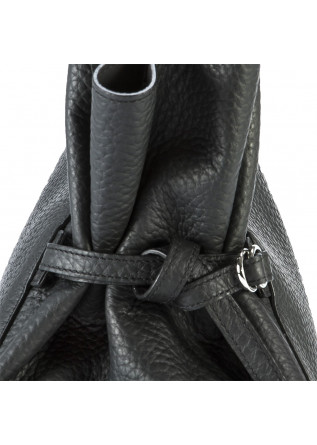 WOMEN'S BAGS SHOULDER BAG IN LEATHER WITH DOUBLE HANDLES BLACK ORCIANI