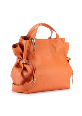 WOMEN'S BAGS SHOULDER BAG IN LEATHER WITH DOUBLE HANDLES ORANGE ORCIANI