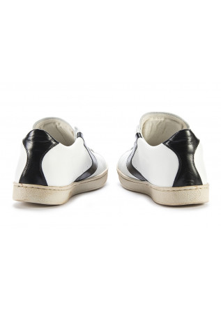 MEN'S SHOES SNEAKERS HANDMADE WHITE / GLOSSY BLACK VALSPORT