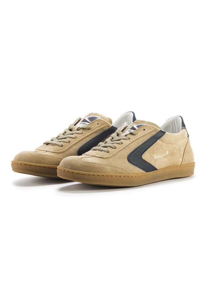 MEN'S SHOES SNEAKERS HANDMADE BEIGE / NIGHT BLUE VALSPORT