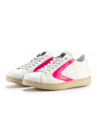 WOMEN'S SHOES SNEAKERS HANDMADE WHITE / FLUORESCENT PINK VALSPORT