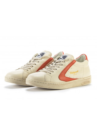 DAMENSCHUHE SNEAKERS HANDGEMACHT BEIGE CREME / ORANGE VALSPORT