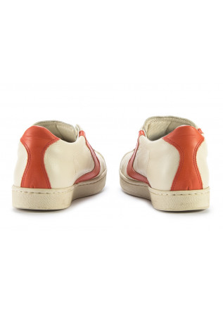 WOMEN'S SHOES SNEAKERS HANDMADE BEIGE / ORANGE VALSPORT