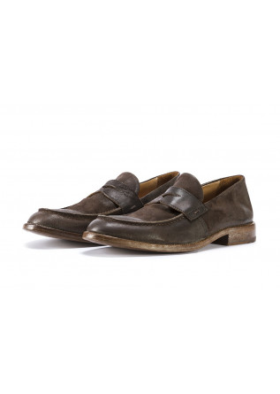 MEN'S SHOES FLAT SHOES SUEDE MOCASSIN CHOCOLATE BROWN MOMA