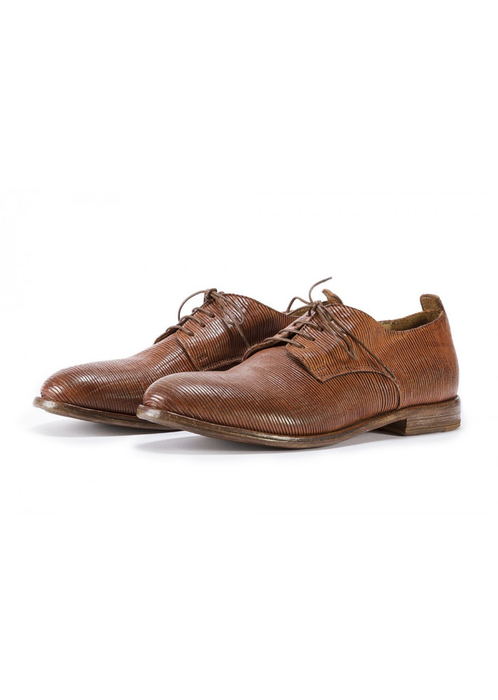 MEN'S SHOES LACE-UP LEATHER HANDMADE BROWN MOMA